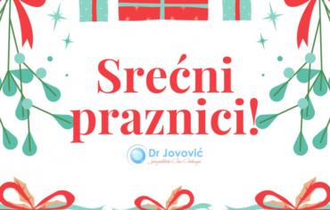 Radno vrijeme optike i ordinacije Dr Jovovic za vrijeme novogodisnjih praznika